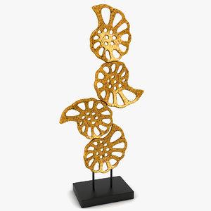 3d shell sculpture