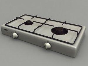 burner gas cooker 3d model