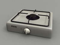 burner gas cooker 3d model