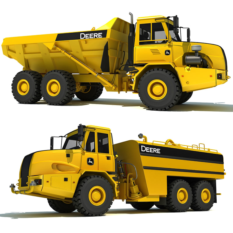 deere dump truck water 3d 3ds