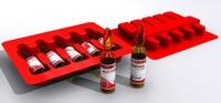3d model pvc medicine ampules