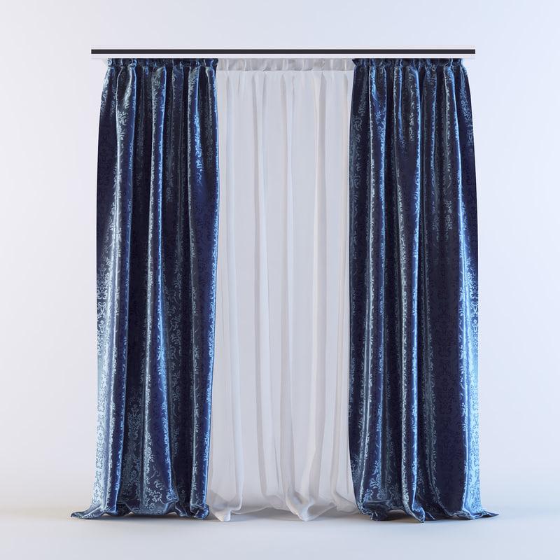 3d model curtains 03