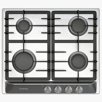 Small Cooktop with Four Gas Rings
