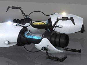3d model hd portal gun