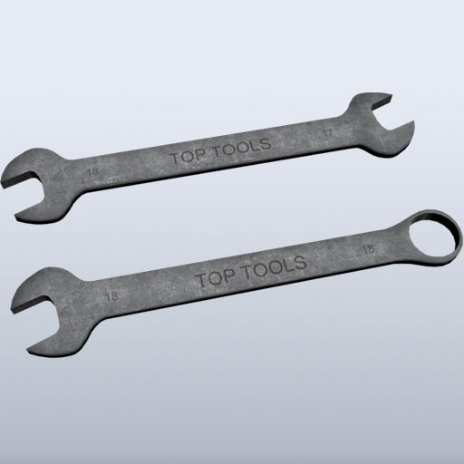 wrench games rusty 3d model