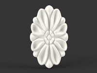 Oval Carved Flower
