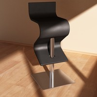chintaly contemporary swivel stool 3d model