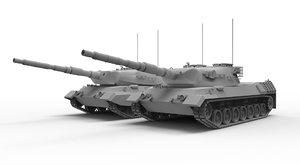 3d model leopard tanks