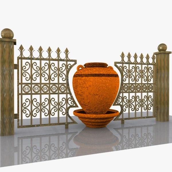 3d decorative wrought iron model