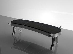 3d futuristic bench
