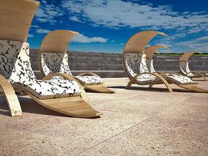 design chaise-longue longue max