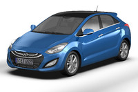 3d model of hyundai i30 elantra