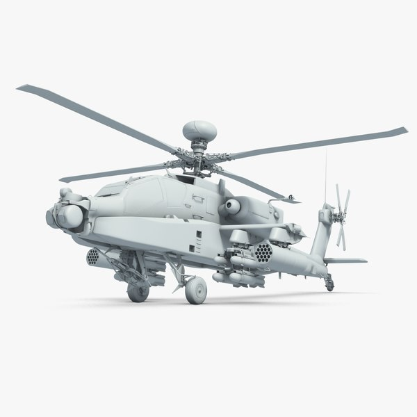3d apache helicopter model