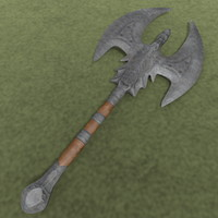 large war axe 3d model