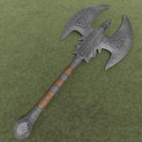 large war axe 3d model