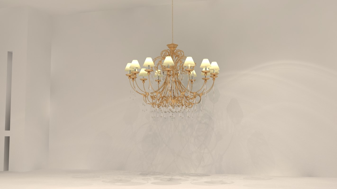 3ds max classical chandelier