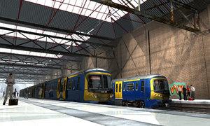 3d uk passenger train model