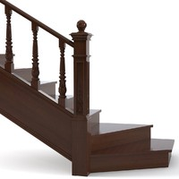staircase traditional stair 3d model