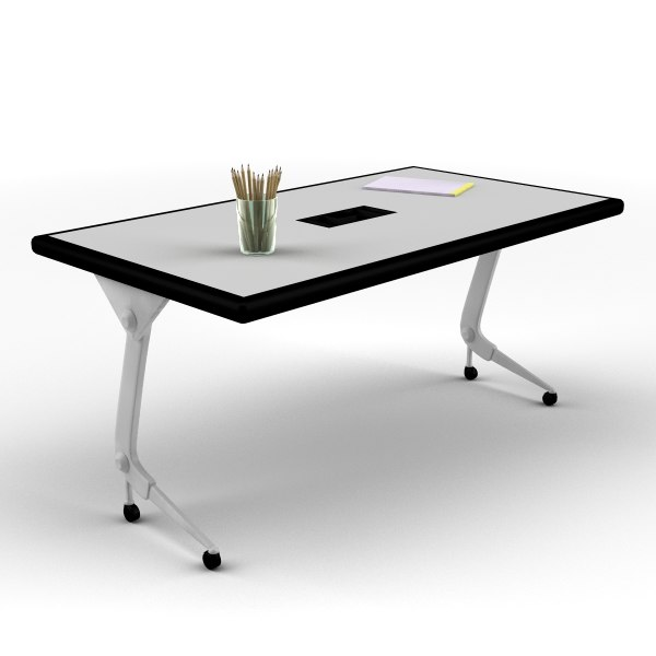 3d classroom office desk model