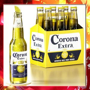corona beer - 6 3ds