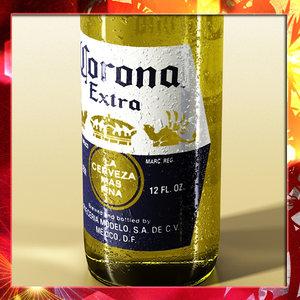 3d model corona beer coaster lemon