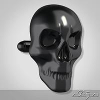 ma cufflink skull