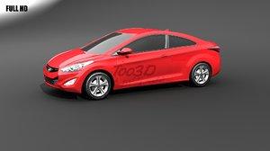 3d model elantra coupe
