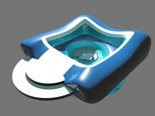 modern hot tub 3d model
