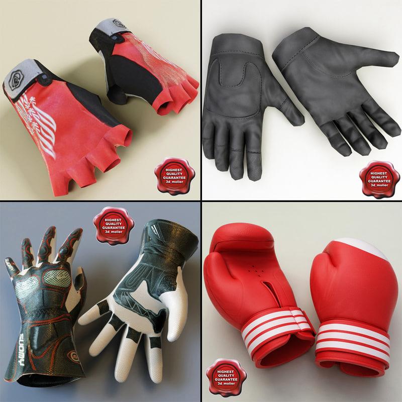 3d model gloves v3