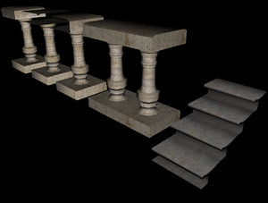 guardrails gothic 3d model