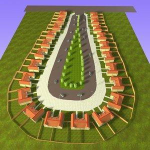 3ds max estate housing