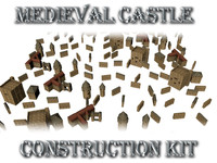 3d max medieval castle construction kit