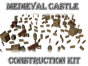 3d max medieval castle construction kit