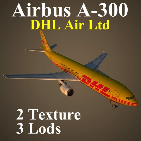 airbus dhl airliner 3d max