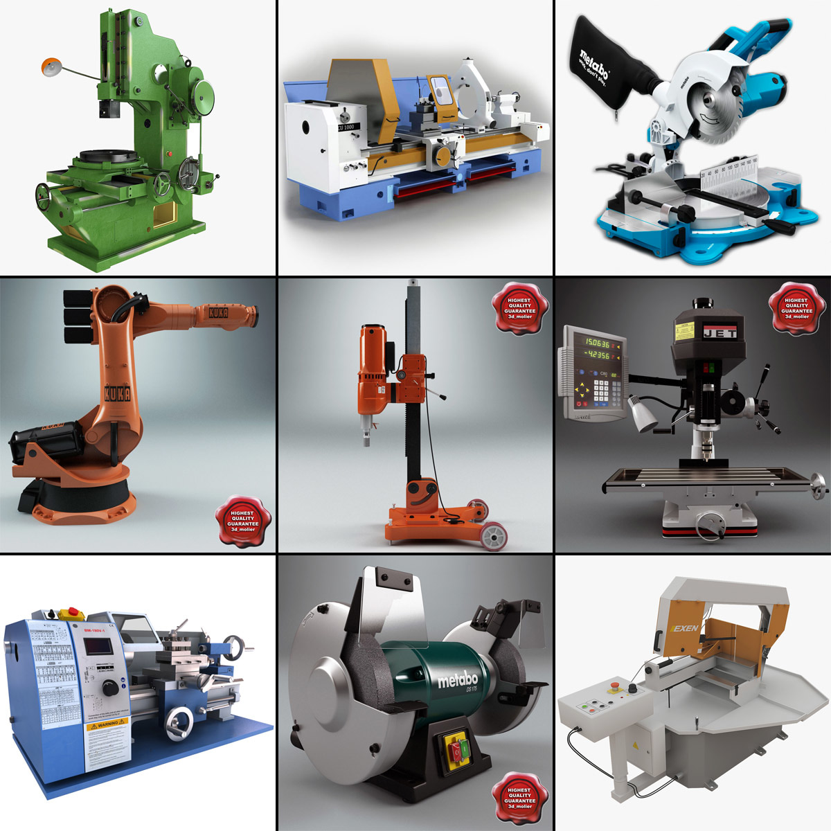 3d model of industrial machines v5