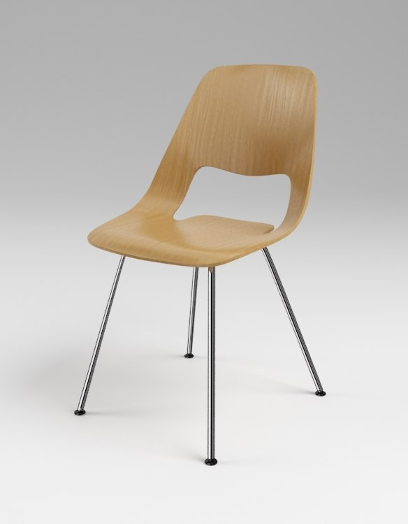 3d model chair jill vitra