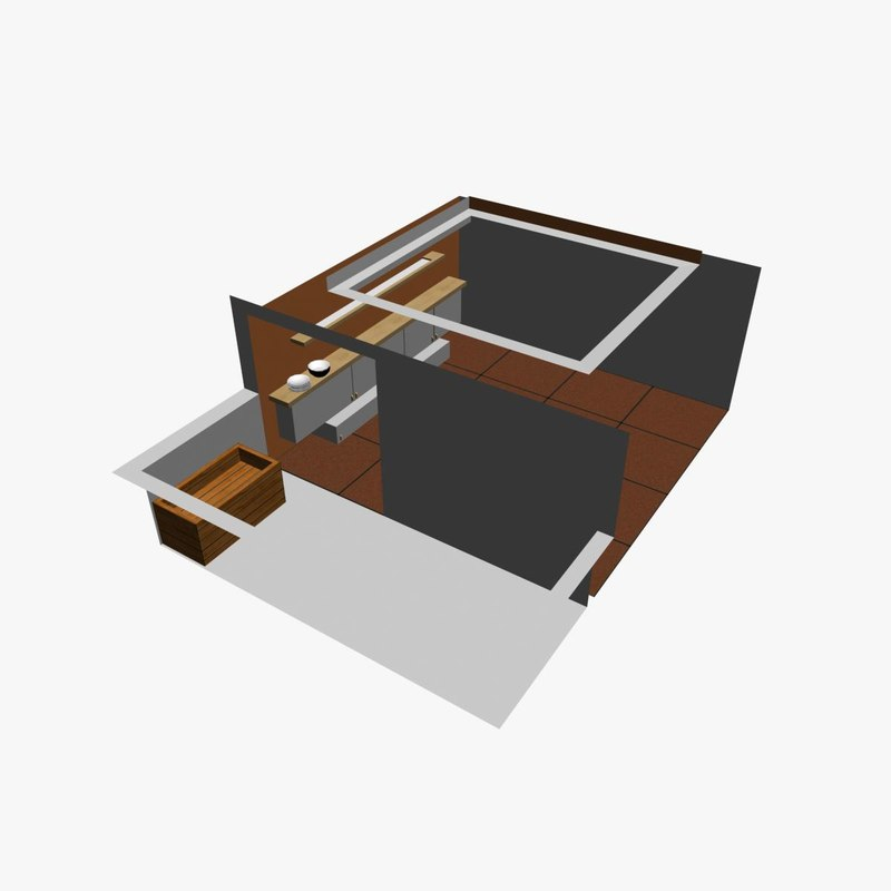 free interior living room 3d model