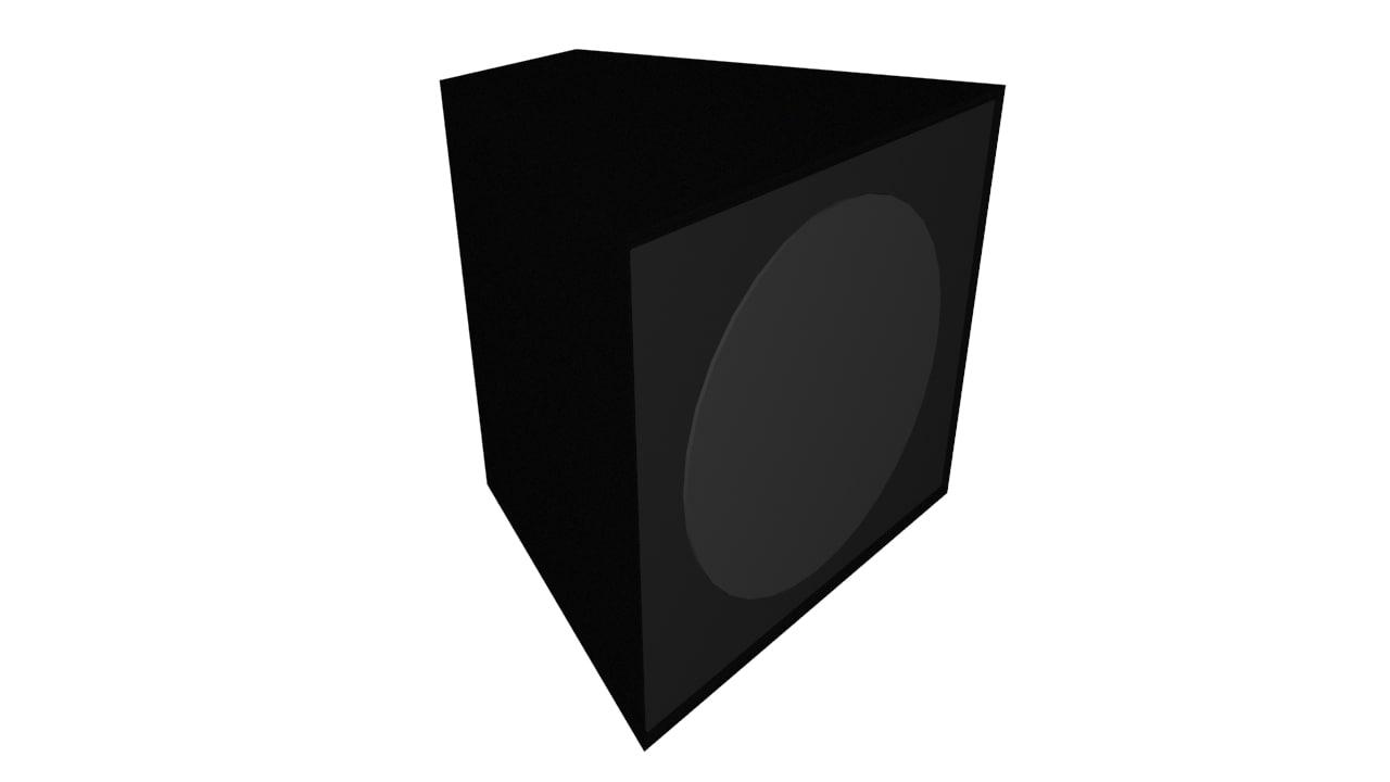 bass speaker obj