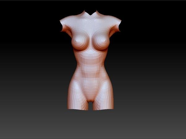 obj woman body