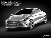 3d mercedes concept style coupè