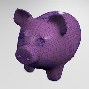 3d model pig money saver