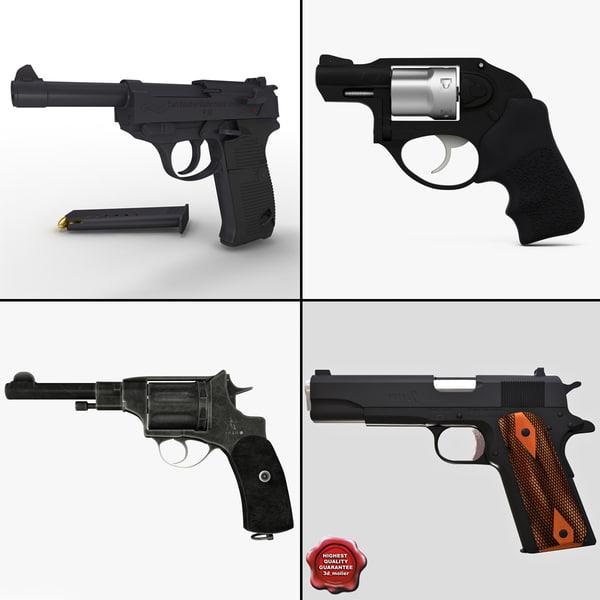 pistols v4 3d model