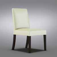 Crate and Barrel - Pullman Pearl Leather Side Chair