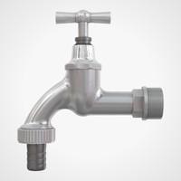 3d model garden faucet