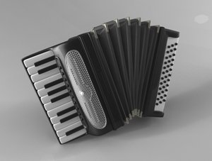 free accordion 3d model
