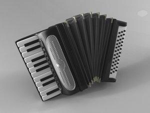 free accordion 3d model