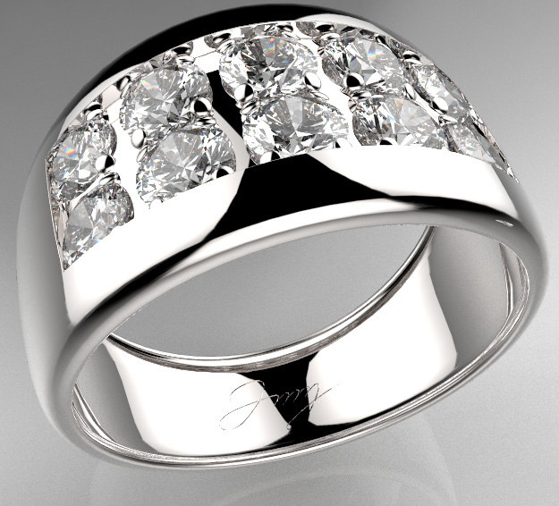 men diamond ring 3d model