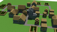 free minecraft village 3d model