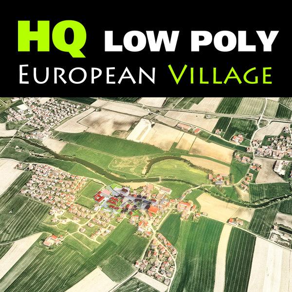 little european town village 3d 3ds