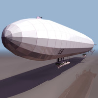 3d flying balloon model